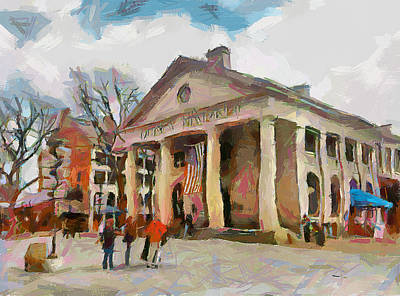 Quincy Market In Boston 2 Poster by Yury Malkov