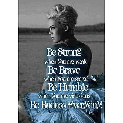 #quote #pink #badass #girls Poster