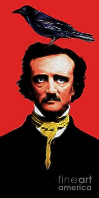 Quoth The Raven Nevermore - Edgar Allan Poe - Electric Poster