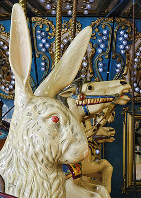 Poster featuring the photograph Rabbit On The Carousel by Sami Martin