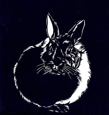 Rabbit Paper Cut Poster
