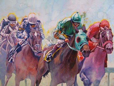 Race 2 Poster by Janina  Suuronen