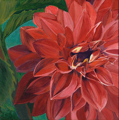 Poster featuring the painting Rachael's Dahlia by Jodi Terracina
