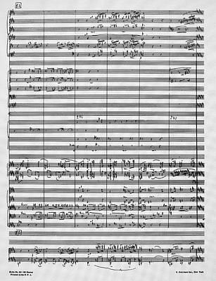 Rachmaninoff Manuscript Poster