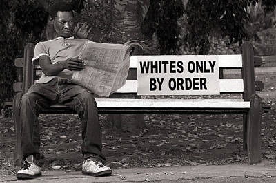 Racial Discrimination Poster by Howard Klaaste