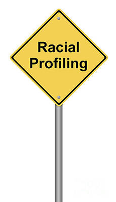 Racial Profiling Poster by Henrik Lehnerer