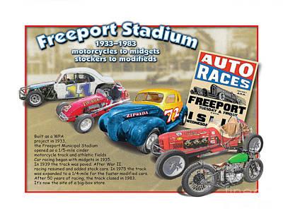 Racing At Freeport Poster by Dan Knowler