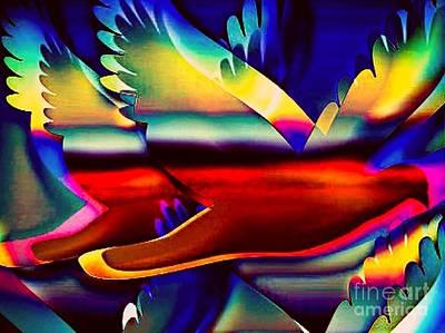 Racing Birds Poster by Gayle Price Thomas