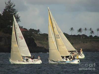 Racing In Kauai Poster
