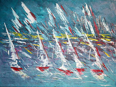 Racing To The Limits - Sold Poster by George Riney