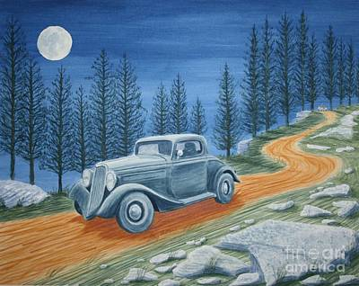 Poster featuring the painting Racing Was Born In North Carolina by Stacy C Bottoms