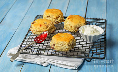 Rack Of Scones Poster by Amanda Elwell