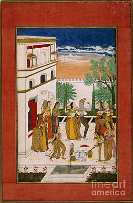 Radha & Krishna Dancing Poster by British Library