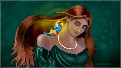 Radha Krishna Fusion  Poster by Mayur Sharma