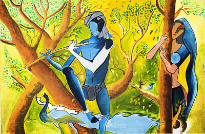 Radha Krishna Poster by Vicasso Destiny