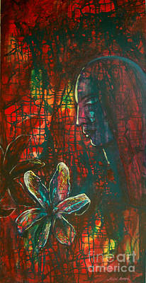 Poster featuring the painting Radiating Light by Mini Arora
