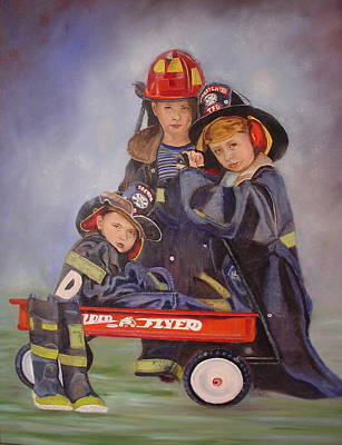 Poster featuring the painting Radio Flyer by Sharon Schultz