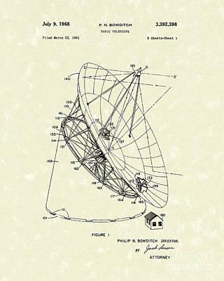 Radio Telescope 1968 Patent Art Poster by Prior Art Design