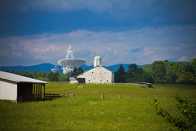 Radio Telescope At The Farm Poster by Daniel Houghton