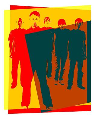 Radiohead Pop Art Poster Poster by Dan Sproul