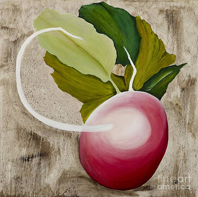 Poster featuring the painting Radish by Stuart Engel