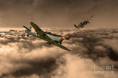 Raf And Luftwaffe Poster by J Biggadike