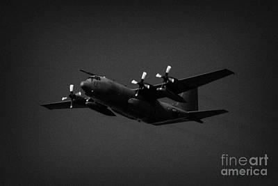 Raf Hercules Flies In Blue Sky Heavy Transport Poster by Joe Fox