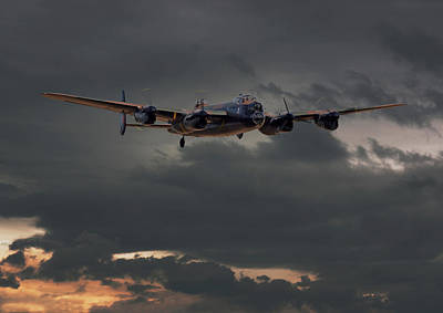 Raf Lancaster - Coming Home Poster by Pat Speirs
