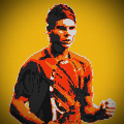 Rafael Nadal 2 Lego Digital Painting Poster