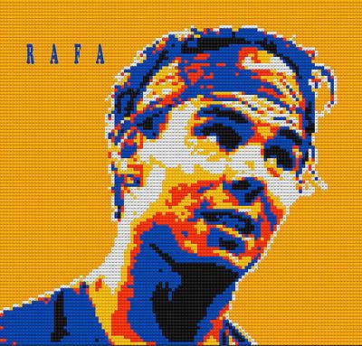 Rafael Nadal Lego Digital Painting Poster
