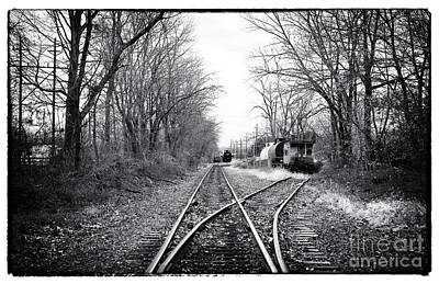 Rail Of Three Bridges Poster by John Rizzuto