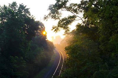 Rail Road Sunrise Poster by Bill Cannon
