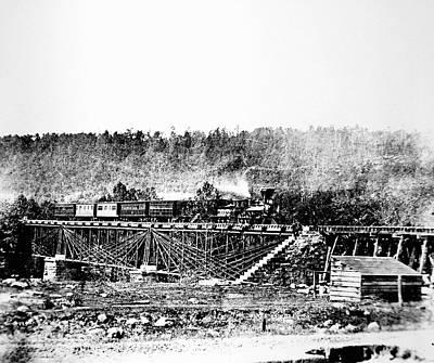 Railroad Bridge, 1858 Poster