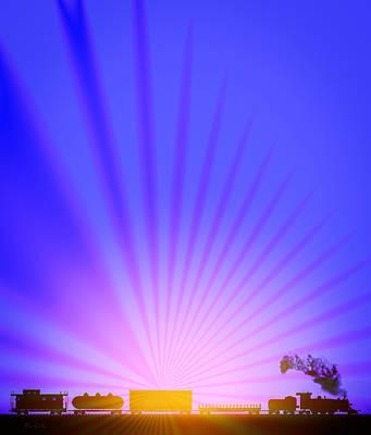 Railroad Sunrise Poster by Bob Orsillo