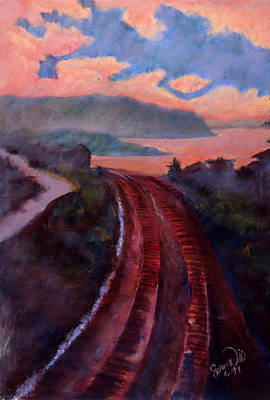 Poster featuring the pastel Railroad by Susan Will