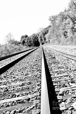 Poster featuring the photograph Railroad Track by Joe  Ng