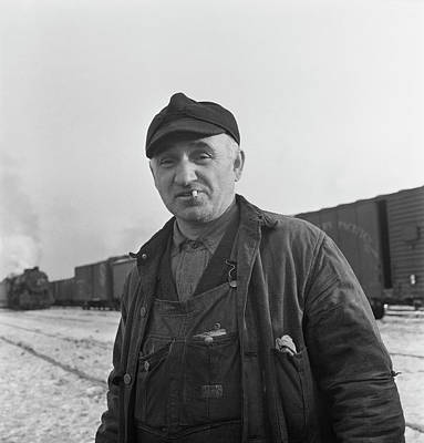 Railroad Worker At A Chicago Poster