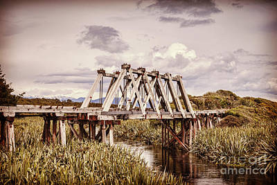 Railway Bridge At Mahinapua Creek Poster by Colin and Linda McKie