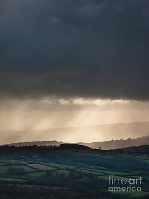 Rain Clouds Over Dartmoor Poster by Jan Bickerton