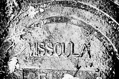 Rain Covered Manhole Cover In Missoula Poster by James White