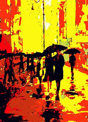 Rain Poster by David Alvarez