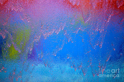 Rain Drops Abstract Poster by Haleh Mahbod
