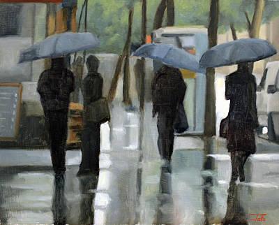 Rain On Saint Germain Poster
