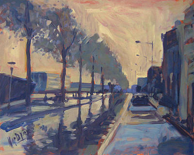 Rain On The Havendijk Tilburg Poster