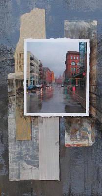 Rain Water Street  Poster by Anita Burgermeister