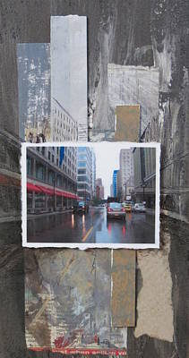 Rain Wisconsin Ave Wide View Poster