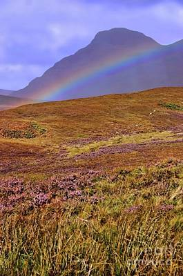 Rainbow And Heather Poster
