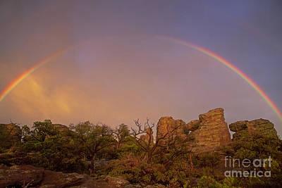 Rainbow At Chiricahua Poster by Keith Kapple