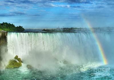 Rainbow At Niagara Poster by Mel Steinhauer