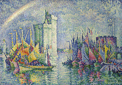 Rainbow At The Port Of La Rochelle Poster
